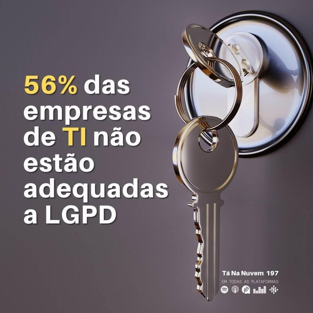 56% da empresas de TI não estão adequadas a LGPD